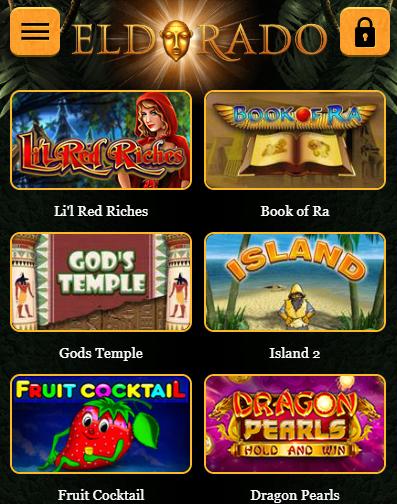 мобильная версия казино Эльдорадо